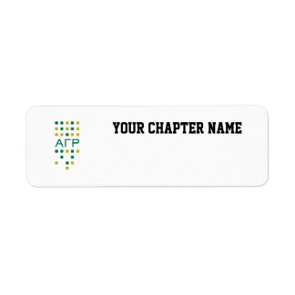 Alpha Gamma Rho - Letters Vertical Return Address Label