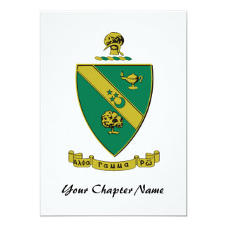 Alpha Gamma Rho Official Coat of Arms Card