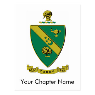 Alpha Gamma Rho Official Coat of Arms Postcard