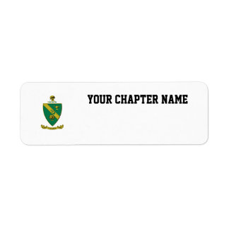 Alpha Gamma Rho Official Coat of Arms Return Address Label