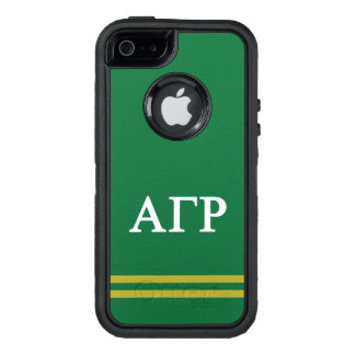 Alpha Gamma Rho | Sport Stripe OtterBox Defender iPhone Case