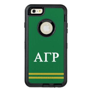 Alpha Gamma Rho   Sport Stripe OtterBox Defender iPhone Case