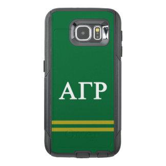 Alpha Gamma Rho | Sport Stripe OtterBox Samsung Galaxy S6 Case