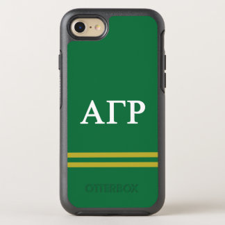 Alpha Gamma Rho | Sport Stripe OtterBox Symmetry iPhone 8/7 Case