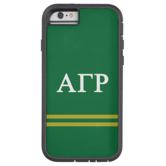 Alpha Gamma Rho | Sport Stripe Tough Xtreme iPhone 6 Case