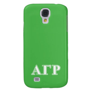 Alpha Gamma Rho White and Green Letters Galaxy S4 Case