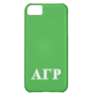 Alpha Gamma Rho White and Green Letters iPhone 5C Case