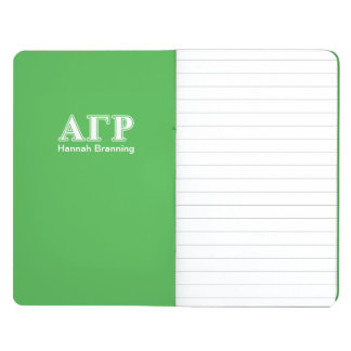 Alpha Gamma Rho White and Green Letters Journal