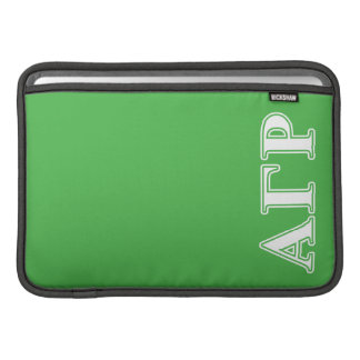 Alpha Gamma Rho White and Green Letters MacBook Sleeve