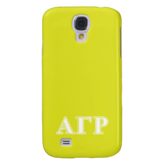 Alpha Gamma Rho White and Yellow Letters Galaxy S4 Case