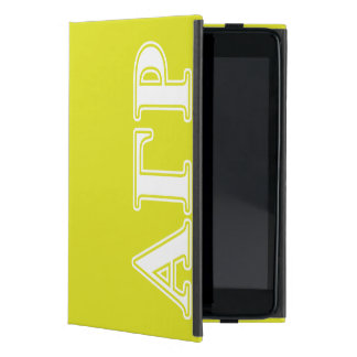 Alpha Gamma Rho White and Yellow Letters iPad Mini Case