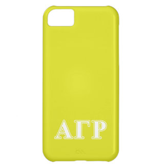 Alpha Gamma Rho White and Yellow Letters iPhone 5C Case