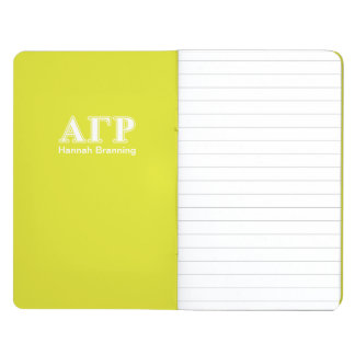 Alpha Gamma Rho White and Yellow Letters Journal