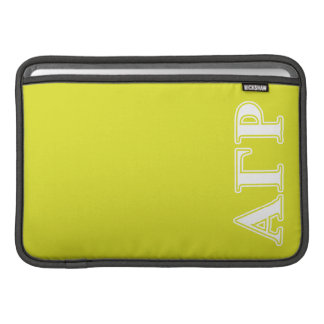 Alpha Gamma Rho White and Yellow Letters Sleeve For MacBook Air