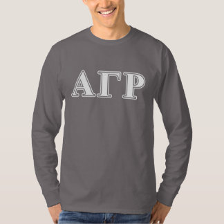 Alpha Gamma Rho White and Yellow Letters T-Shirt
