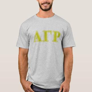 Alpha Gamma Rho Yellow Letters T-Shirt
