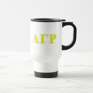 Alpha Gamma Rho Yellow Letters Travel Mug
