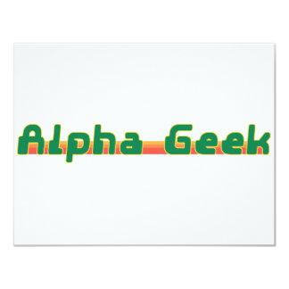 Alpha Geek 11 Cm X 14 Cm Invitation Card