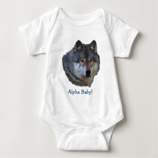 Alpha Grey Wolf Collection Baby Bodysuit