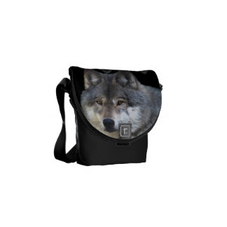Alpha Grey Wolf Wildlife-lover's Messenger Bag