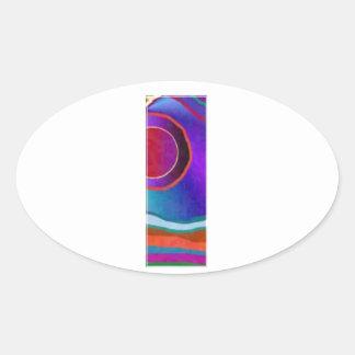 ALPHA III Alphabet: ID Identity Initial Reference Oval Sticker