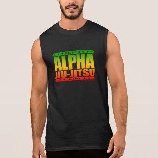ALPHA JIU-JITSU - I Love Grappling Training, Rasta Sleeveless Shirt