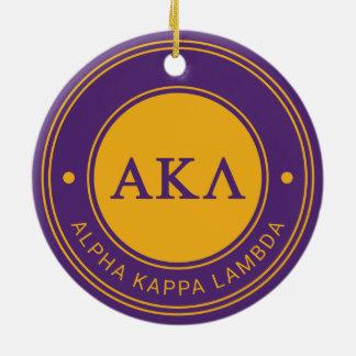 Alpha Kappa Lambda | Badge Round Ceramic Decoration