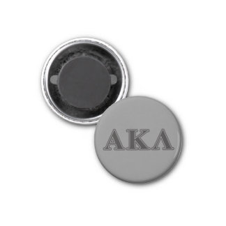 Alpha Kappa Lambda Black Letters 3 Cm Round Magnet