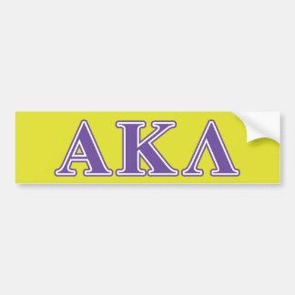 Alpha Kappa Lambda Black Letters Bumper Sticker