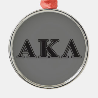 Alpha Kappa Lambda Black Letters Christmas Ornament