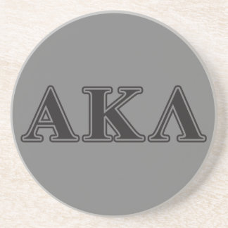 Alpha Kappa Lambda Black Letters Coasters
