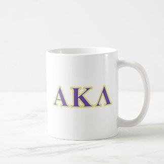 Alpha Kappa Lambda Black Letters Coffee Mug