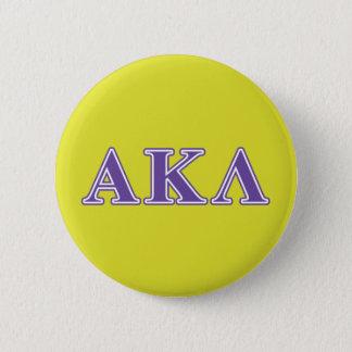 Alpha Kappa Lambda Purple Letters 6 Cm Round Badge