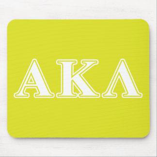 Alpha Kappa Lambda Purple Letters Mouse Mat