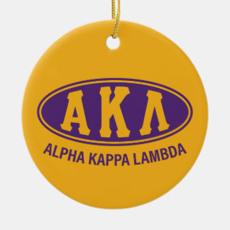 Alpha Kappa Lambda | Vintage Round Ceramic Decoration