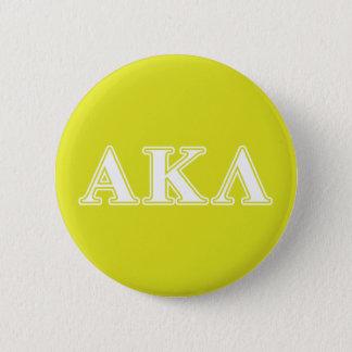 Alpha Kappa Lambda White and Purple Letters 6 Cm Round Badge