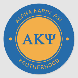 Alpha Kappa Psi | Badge Classic Round Sticker