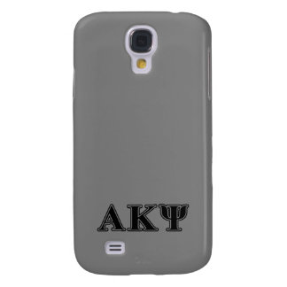 Alpha Kappa Psi Black Letters Galaxy S4 Case