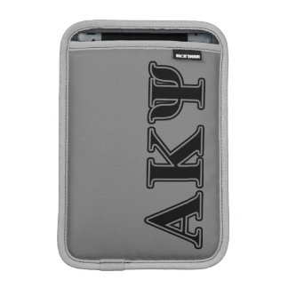 Alpha Kappa Psi Black Letters iPad Mini Sleeve