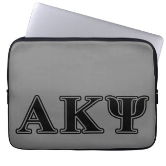 Alpha Kappa Psi Black Letters Laptop Sleeve