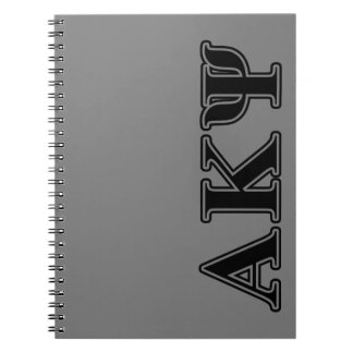 Alpha Kappa Psi Black Letters Notebooks