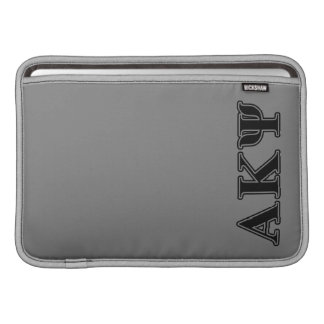 Alpha Kappa Psi Black Letters Sleeve For MacBook Air