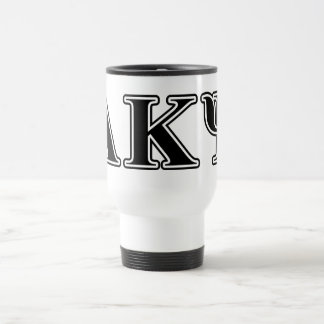 Alpha Kappa Psi Black Letters Travel Mug