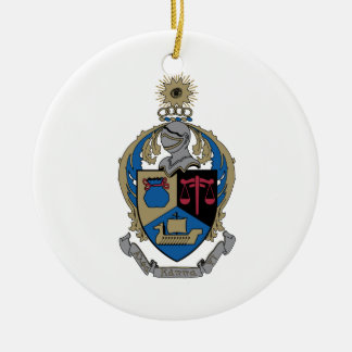 Alpha Kappa Psi - Coat of Arms Christmas Ornament
