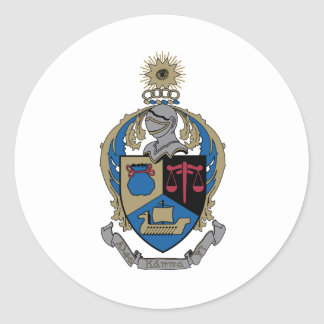 Alpha Kappa Psi - Coat of Arms Classic Round Sticker