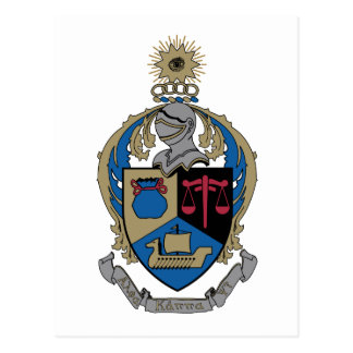 Alpha Kappa Psi - Coat of Arms Postcard
