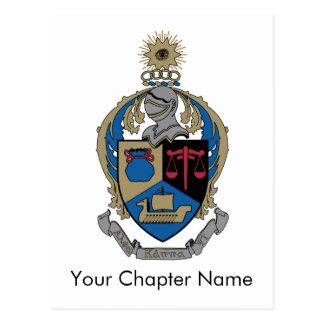 Alpha Kappa Psi - Coat of Arms Postcard