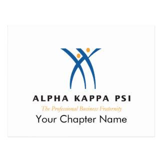 Alpha Kappa Psi Name and Logo Postcard