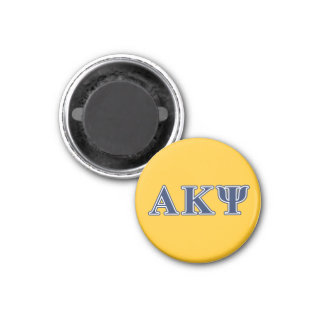 Alpha Kappa Psi Navy Letters 3 Cm Round Magnet