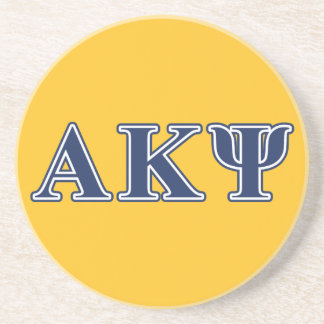 Alpha Kappa Psi Navy Letters Coaster